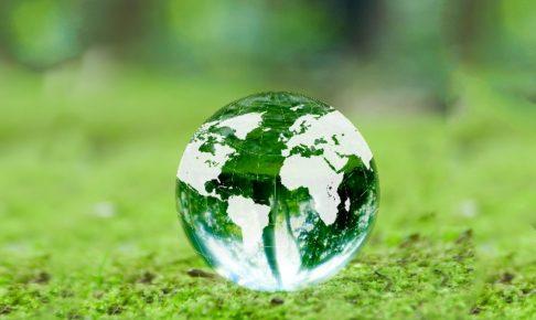 地球柄のクリスタルボール