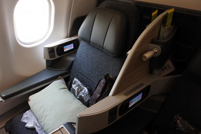 JAL機内の椅子