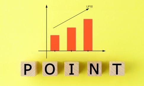 POINTと書かれたブロックと上がるグラフ