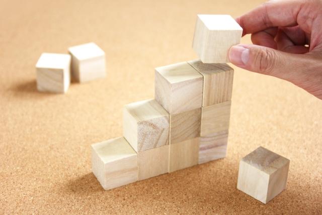 積み重ねたブロック