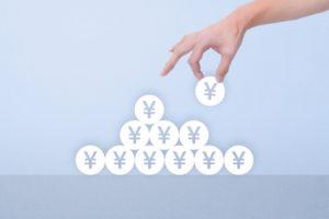 円マークを積むイメージ