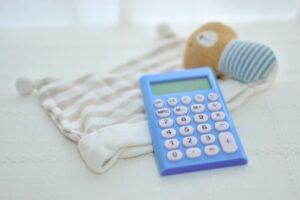 電卓と子供服