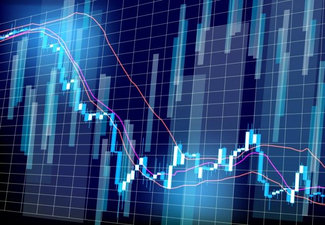 下がる株価のチャート
