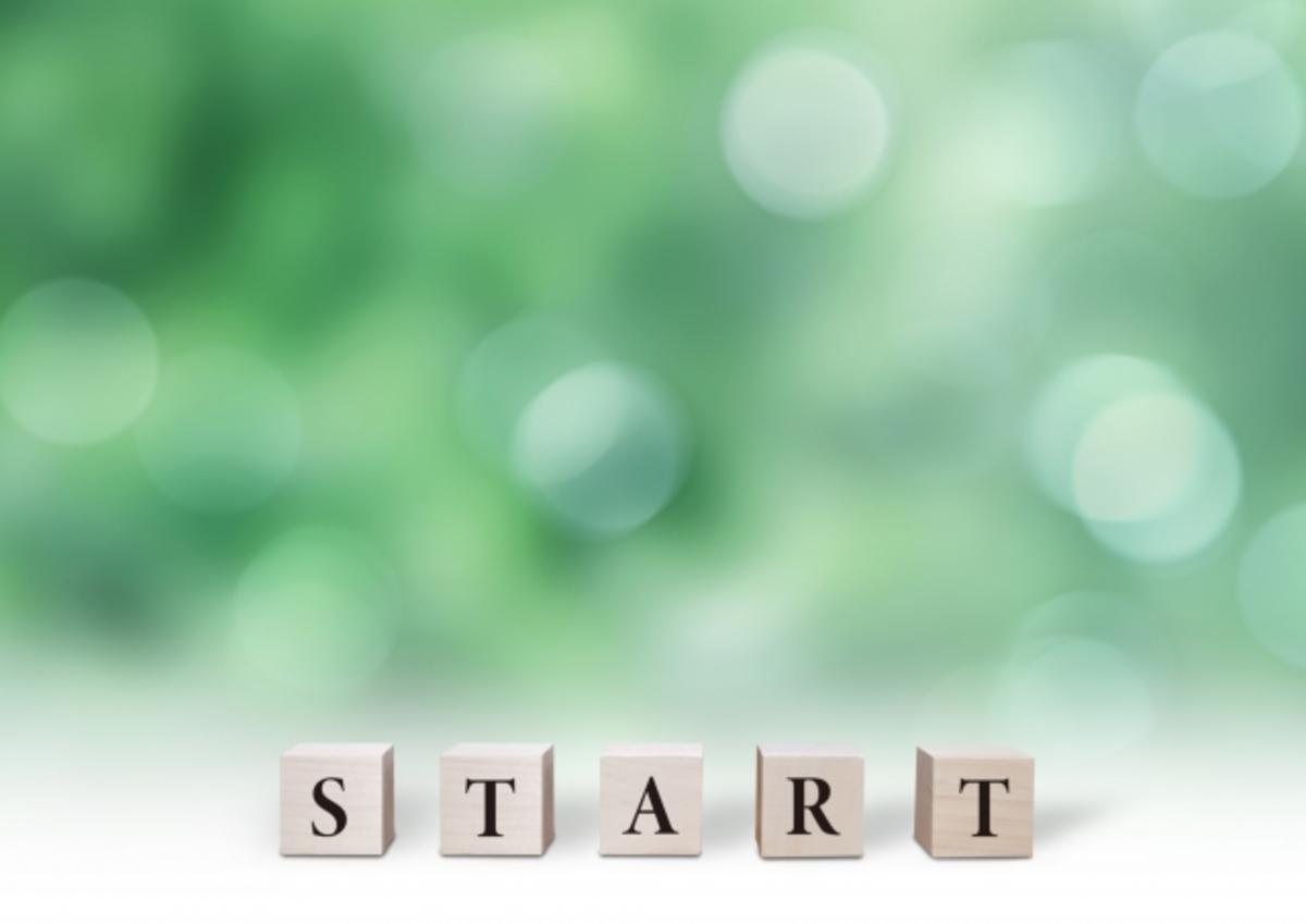 STARTと書かれたブロック