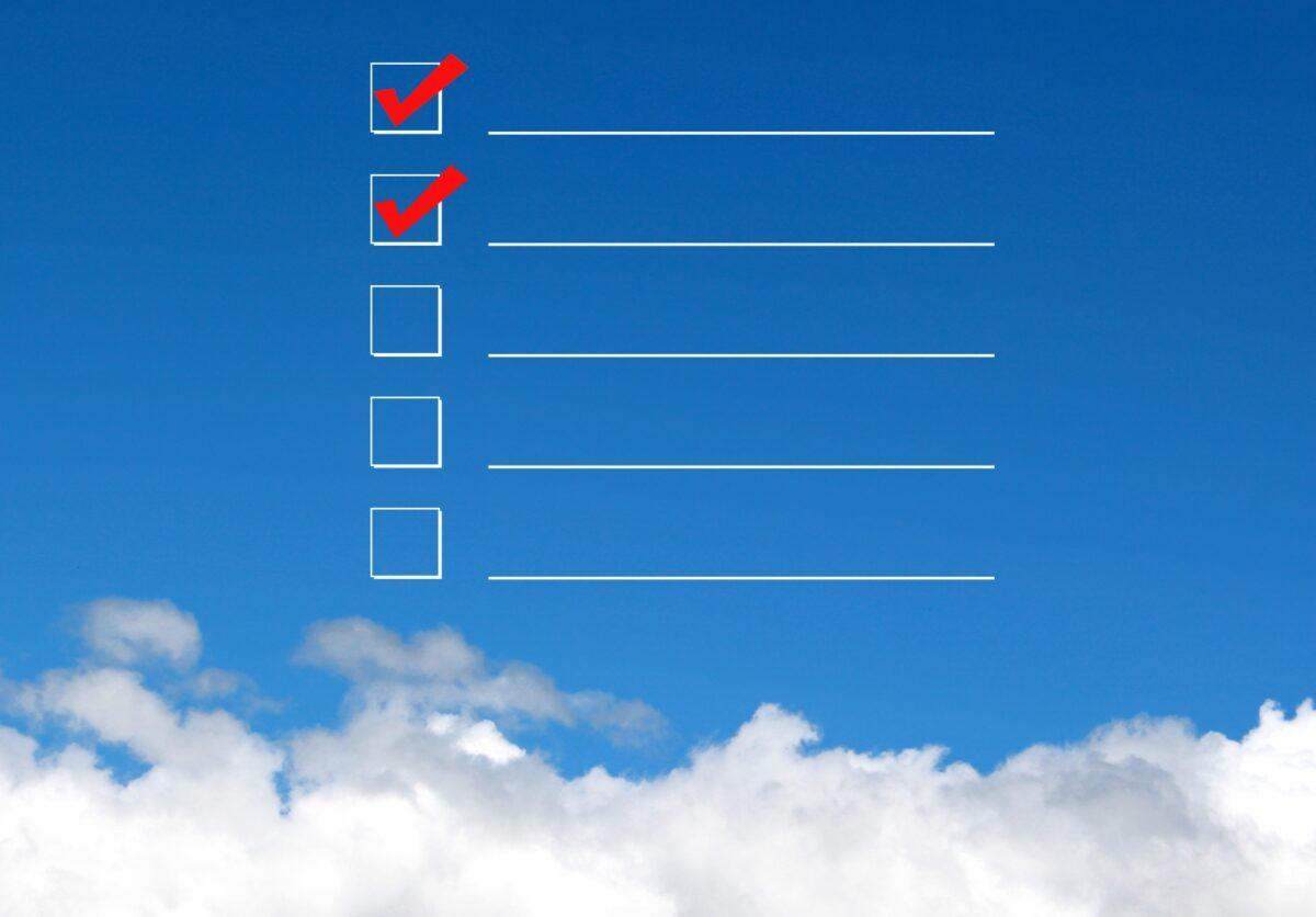 チェックリストのイメージ